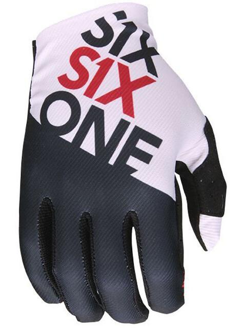 SixSixOne Raji Handschuhe black/white
